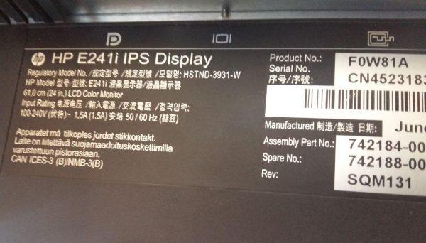 مانیتور ۲۴ اینچ ips اچ پی hp e241i