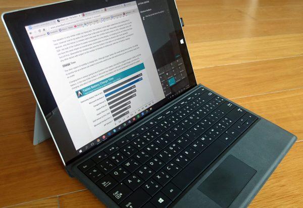 s3 .75 view 1 600x413 - ماکروسافت سرفیس 3 Microsoft Surface استوک